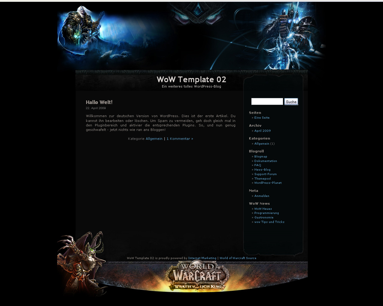 WoW Gold Templates - World of Warcraft Templates